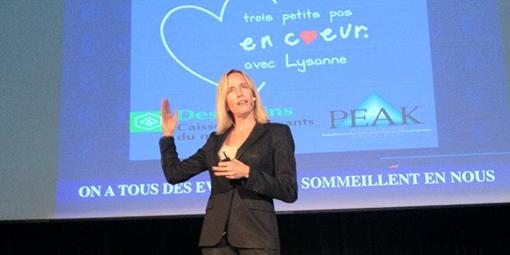 Dre Lysanne Goyer, psychologue de la santé, conférencière, formatrice et athlète de haut niveau chez Anima